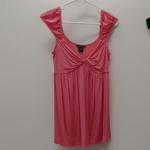 Pink Babydoll Tank with Cap Shoulders